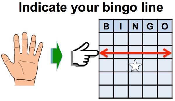 indicate your bingo line