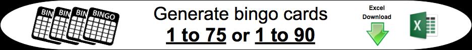 bingo card generator 75 90 numbers