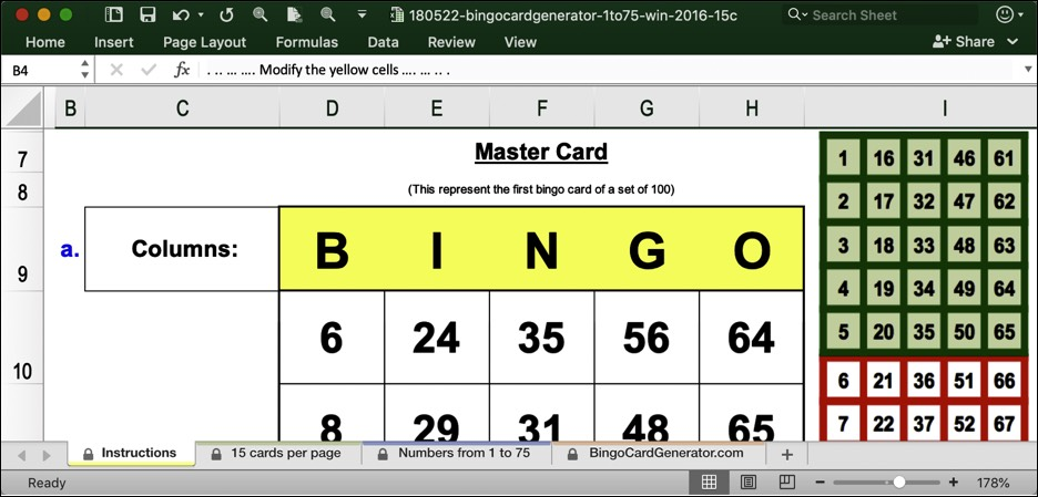 bingo card generator 15 cartes win excel download