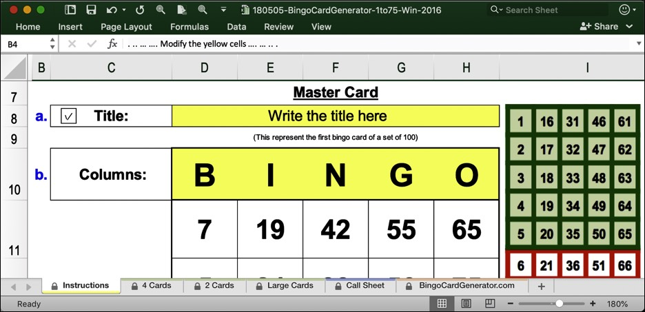 bingo card generator 75 win excel download