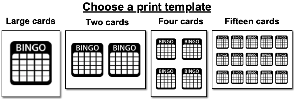 create bingo cards with pictures free