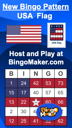 usa flag bingo pattern